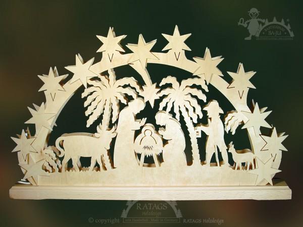 Schwibbogen Heilige Familie, Weihnachten, echt Erzgebirge
