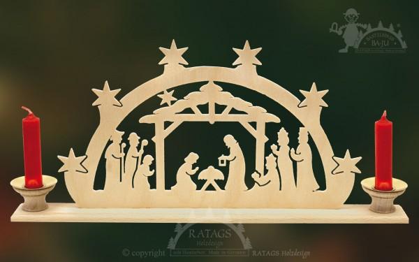 Schwibbogen Geburt Christi, Weihnachten, echt Erzgebirge