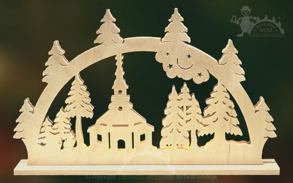 Schwibbogen Kirche, Deko, Weihnachten, echt Erzgebirge