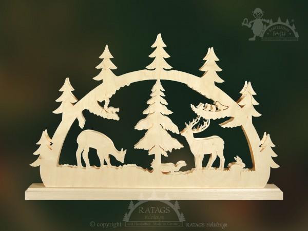 Schwibbogen Waldtiere, Deko, Weihnachten, echt Erzgebirge