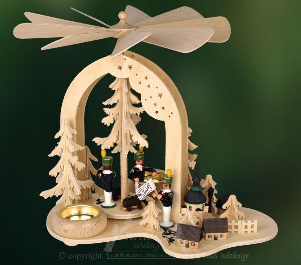 Bogenpyramide Bergmann, Weihnachten, echt Erzgebirge