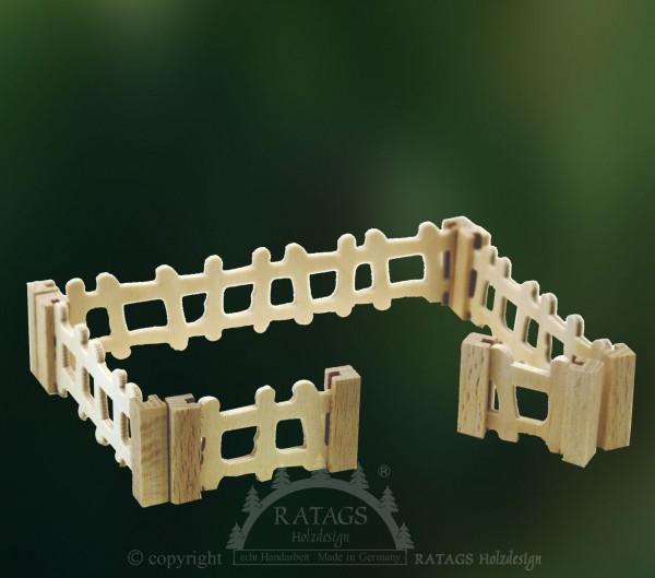 Steckfiguren zum Basteln, Zäune