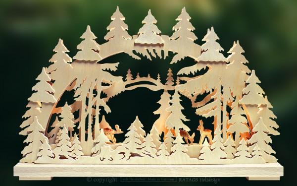 Schwibbogen Waldfrieden, Weihnachten, echt Erzgebirge