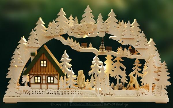 Schwibbogen Altseiffen, Weihnachten, echt Erzgebirge
