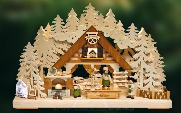 Schwibbogen, Bäckerei, Erzgebirge, Deko, Weihnachten