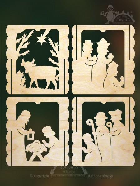 Tischl=E4mpchen Heilige Familie z. auss=E4gen, echt Erzgebirge