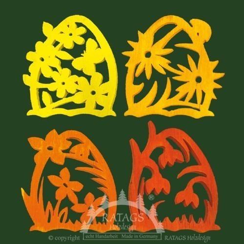 Baum- Strauchbehang, Deko, Blumen, echt Erzgebirge, farbig