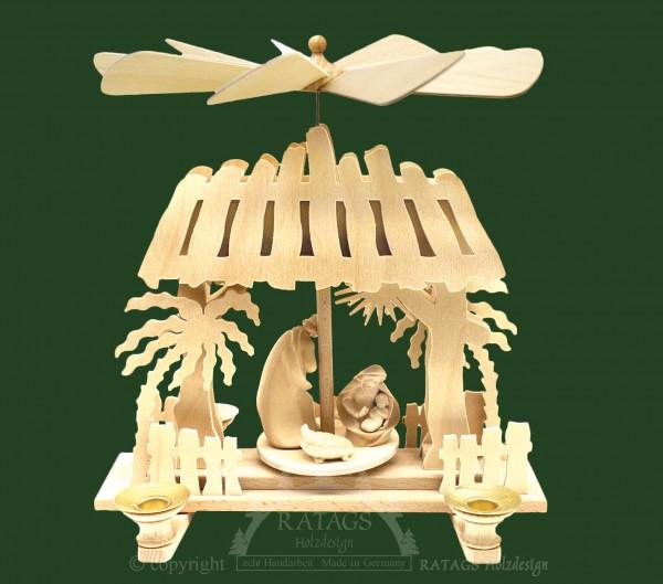 Stallpyramide Christus Geburt, Weihnachten, echt Erzgebirge