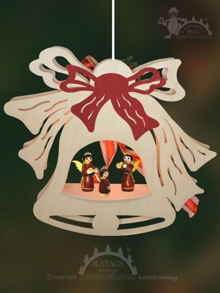 Fensterbild, Glocke, Weihnacht, Erzgebirge