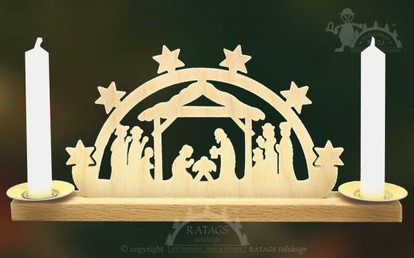 Mini Schwibbogen Geburt Christi Weihnachten, echt Erzgebirge
