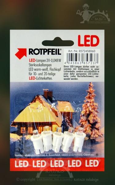 Ersatzl=E4mpchen f=FCr LED, 5 St=FCck