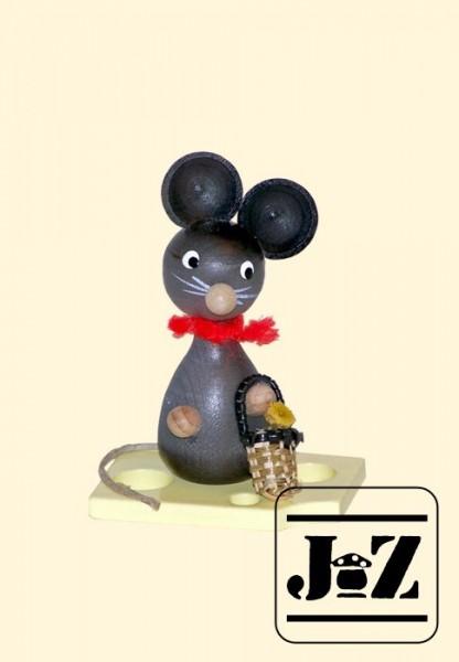 Maus mit Blumenkörbchen