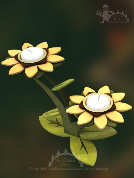 Teelichthalter zum Basteln, 2 Blüten