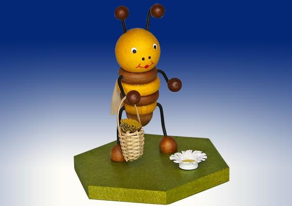Figur Biene mit Blumenkorb