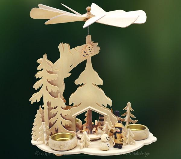 Tannenpyramide, Schneemänner