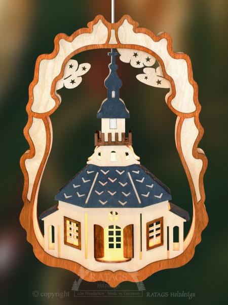 Fensterbild, Seiffener Kirche, Erzgebirge, Weihnacht