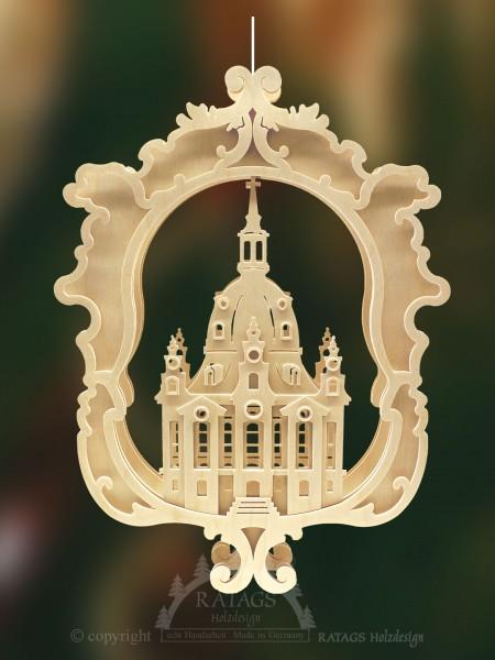 Fensterbild, beleuchtet, natur, Frauenkirche Dresden