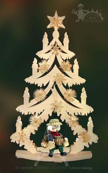Tanne zum basteln gro=DF, Weihnachten, echt Erzgebirge