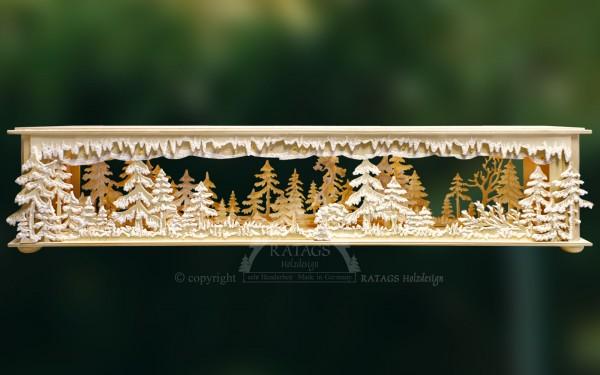 Raumleuchte Waldlichtung, Deko Weihnachten, echt Erzgebirge