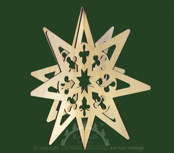 Fensterbild, Weihnachten, Stern, 3D