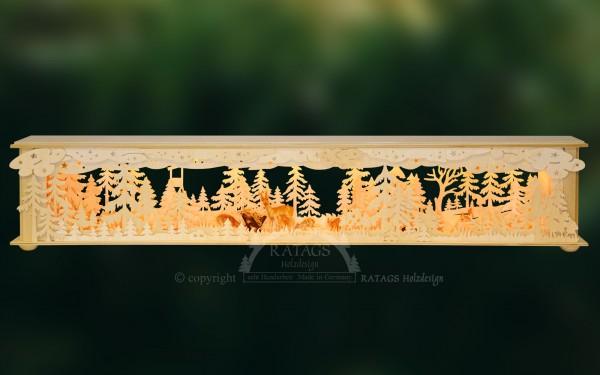 Raumleuchte Futterkrippe im Wald, Deko, echt Erzgebirge
