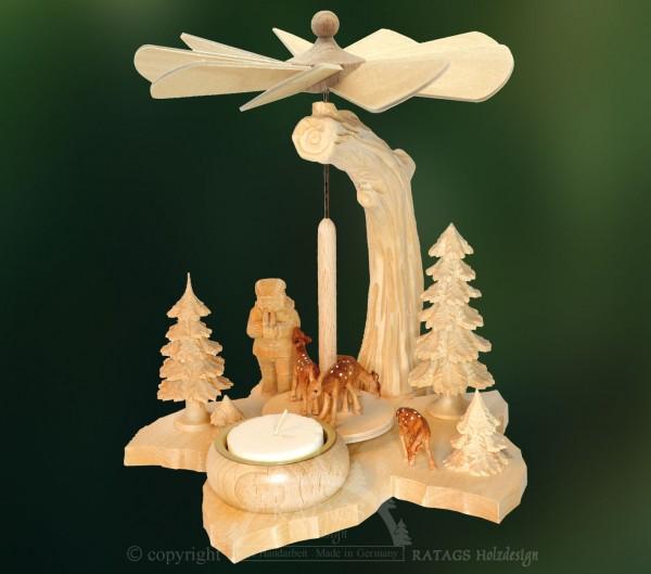 Blattpyramide Foerster, Deko, Weihnachten, echt Erzgebirge