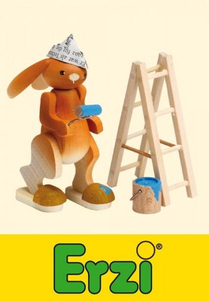 Hasenmaler mit Leiter