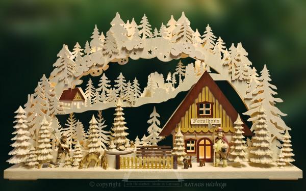 Schwibbogen Forsthaus, Deko, Weihnachten, echt Erzgebirge