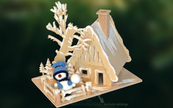 Raeucherhaus Raureif, Deko, Weihnachten, echt Erzgebirge