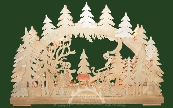 Schwibbogen Rodelspa=DF, Deko, Weihnachten, echt Erzgebirge