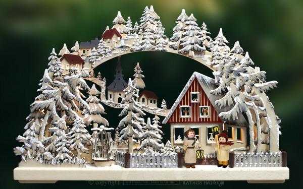 Schwibbogen Laternenschein, Weihnachten, echt Erzgebirge