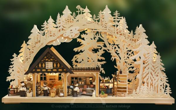Schwibbogen Kochprofis, Deko, Weihnachten, echt Erzgebirge