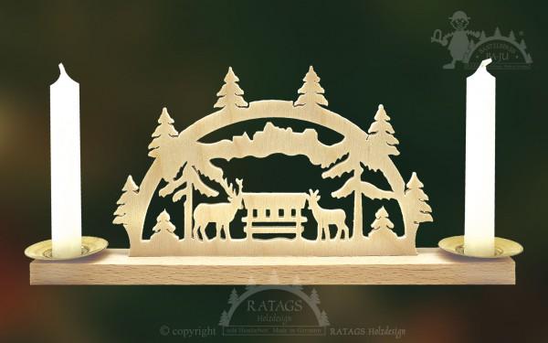 Schwibbogen Waldlichtung, Weihnachten, echt Erzgebirge