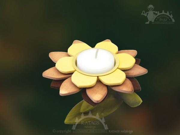 Teelichthalter zum Basteln, Fr=FChling, Sommer, Blume