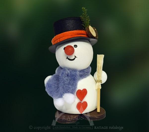 Moppel-Schneemann mit Besen, Winter, Frost, Weihnacht, Herz