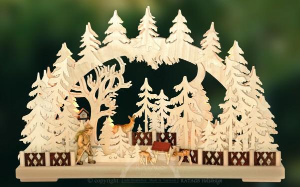 Schwibbogen Wildhueter, Deko, Weihnachten, echt Erzgebirge