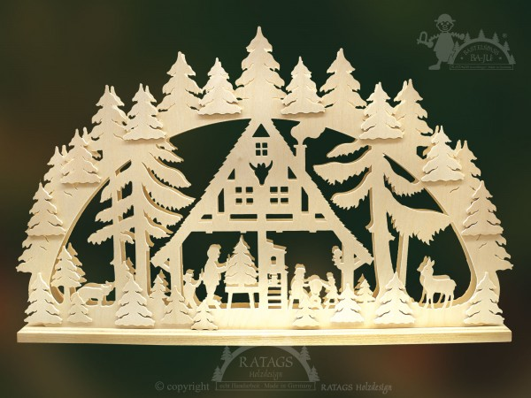 Schwibbogen Weihnachtsstube, Weihnachten, echt Erzgebirge