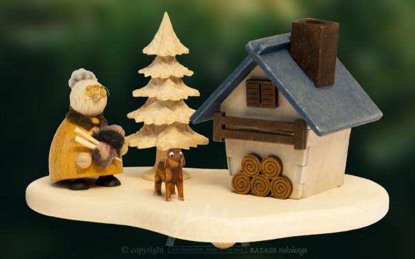 Raeucherhaus Oma, Weihnachten, echt Erzgebirge