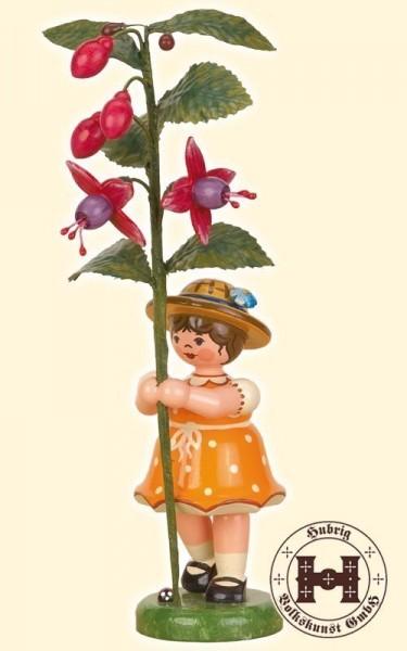 Blumenkind Mädchen - Fuchsie