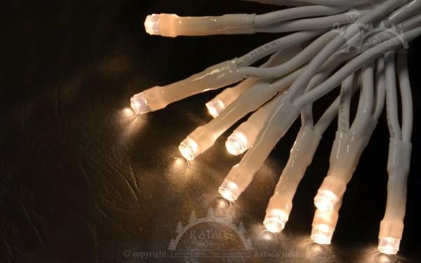 20er LED-Lichterkette, wam-weiße LED, Kabel weiß
