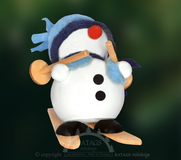Molli, Junge Linie, Schneemann auf Ski, blaue Mütze