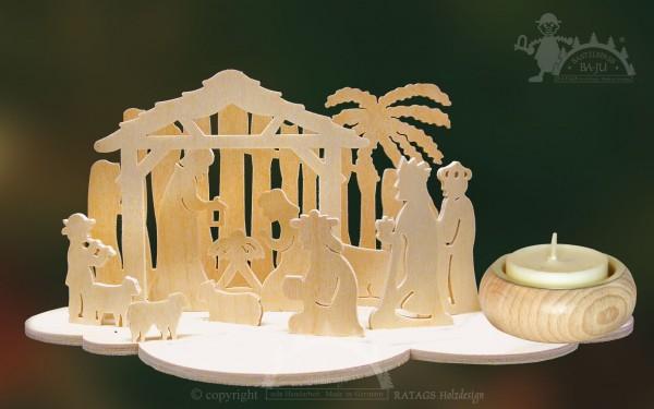 Tischschmuck zum Basteln, Geburt, Weihnacht, Teelicht