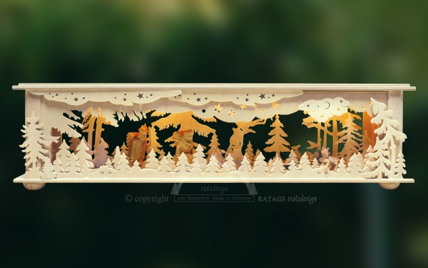 Raumleuchte Waldleute, Deko, Weihnachten, echt Erzgebirge