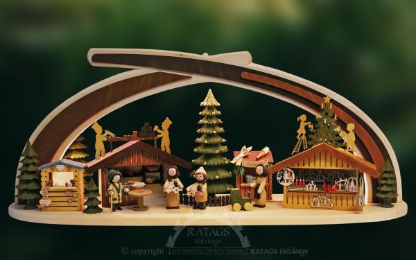 Massivholzbogen Markt, Deko, Weihnachten, echt Erzgebirge