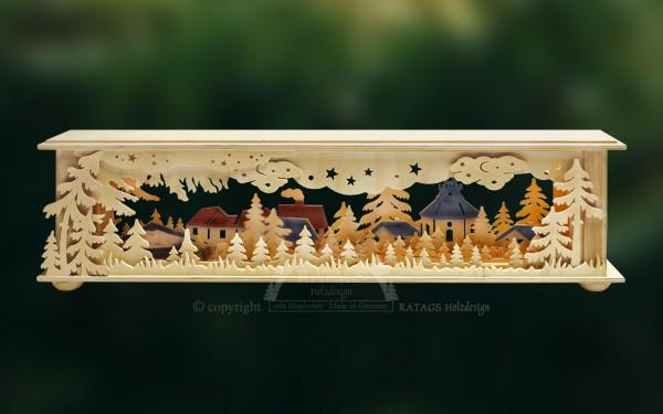 Raumleuchte Dorf, Deko, Weihnachten, echt Erzgebirge