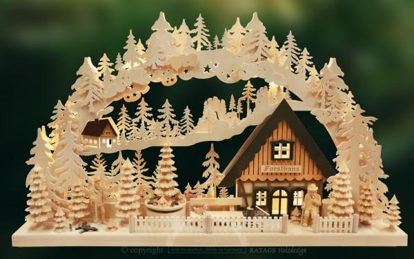 Schwibbogen Foersterei, Deko, Weihnachten, echt Erzgebirge