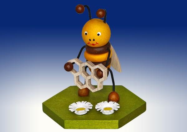 Biene mit Honigwabe