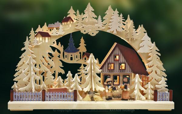 Schwibbogen Striezelkinder Deko Weihnachten echt Erzgebirge