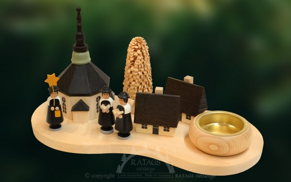 Tischschmuck Kurrendesänger, Weihnachten, echt Erzgebirge