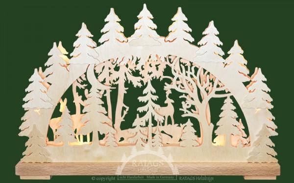 Schwibbogen Dammwild, Deko, Weihnachten, echt Erzgebirge